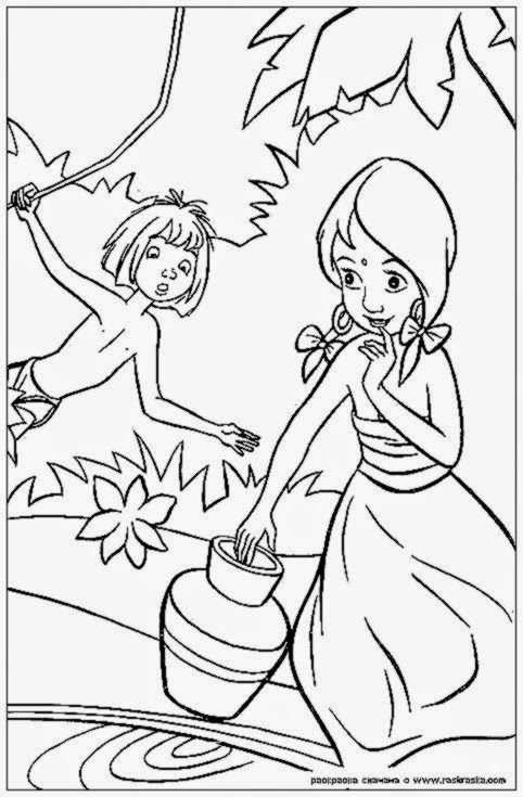 Disney Jungle Book Coloring Pages