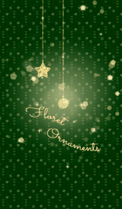 Floret and ornaments/green 09