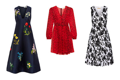 Платья с принтом темных расцветок