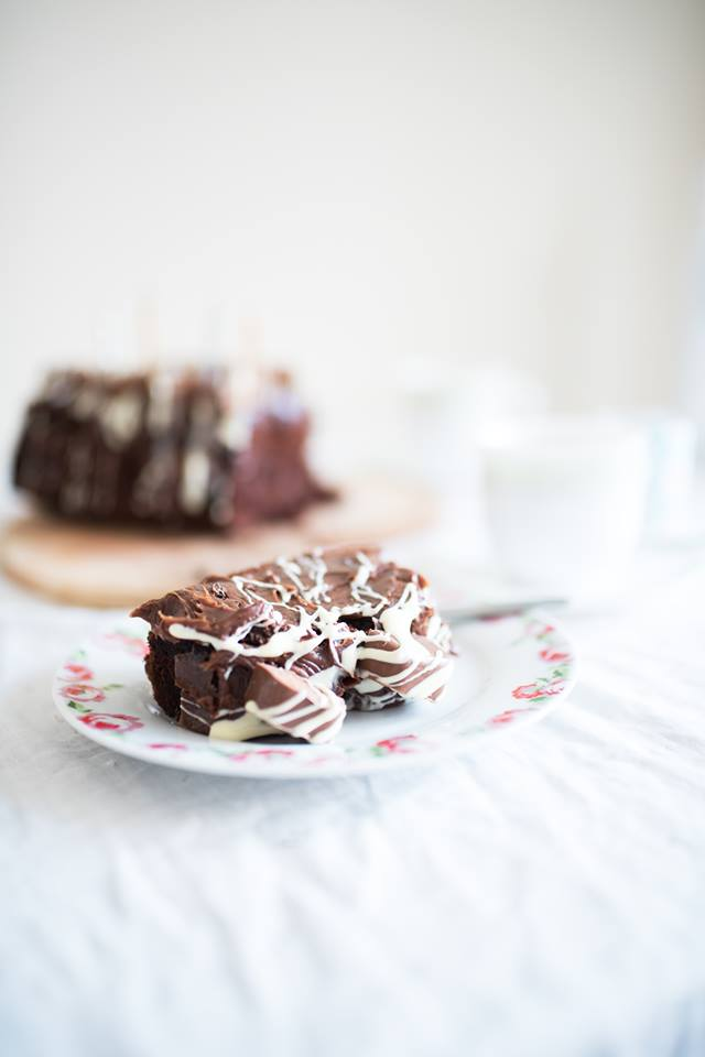 Double Chocolate Birthday Loaf Cake