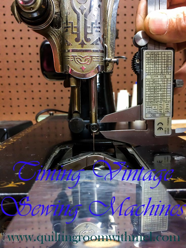 timing a vintage sewing machine