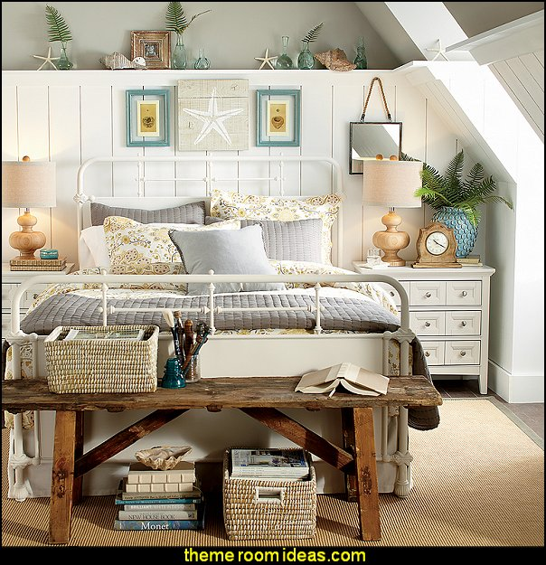 Clarendon Bed by Birch Lane   seaside cottage decorating ideas - coastal living living room ideas - beach cottage coastal living style decorating ideas - beach house decor - seashell decor - nautical bedroom furniture