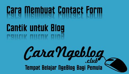 Cara Membuat Contact Form Cantik untuk Blog