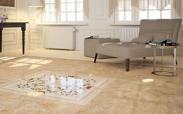 model keramik ruang tamu sederhana