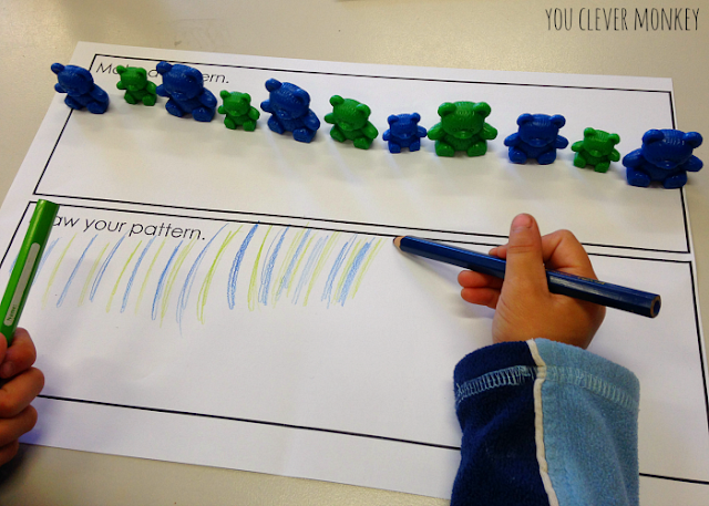 Making patterns in preschool | youclevermonkey