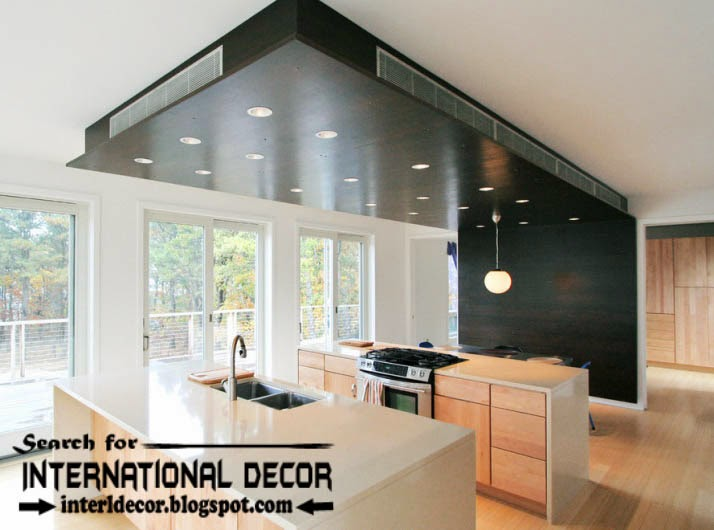 Largest album of modern kitchen ceiling designs ideas tiles for Ideas for new kitchen design
