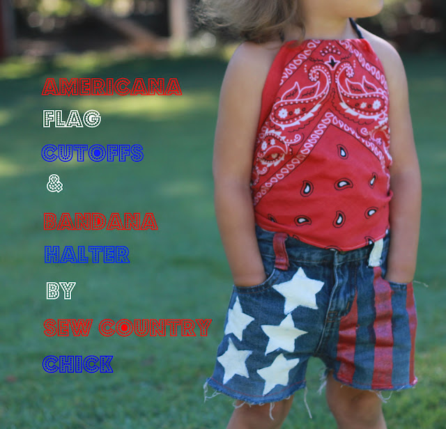 American Flag Cutoffs Amp Bandana Halter Top Tutorial