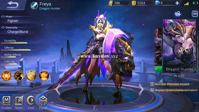 Script Skin Freya Starlight Full Efek Mobile Legends