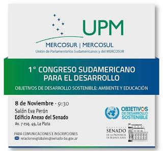 Encuentro de la Unión de Parlamentarios Sudamericanos y del Mercosur en el Senado bonaerense