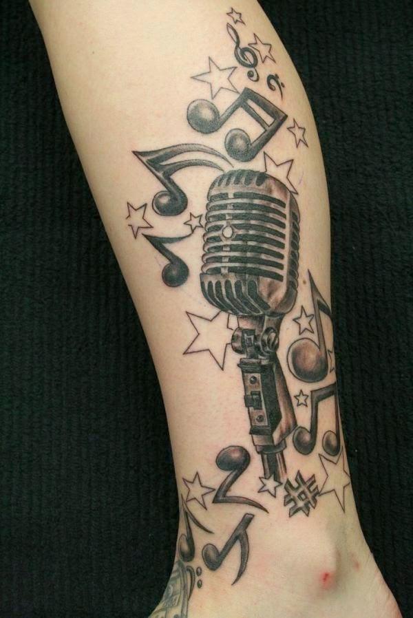 73 Tatuagens De Microfone Mais Tattoo