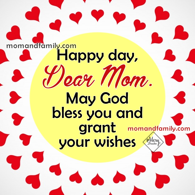 Christian card for mom on birthday or mother's day, wishes for my mother win nice image by Mery Bracho