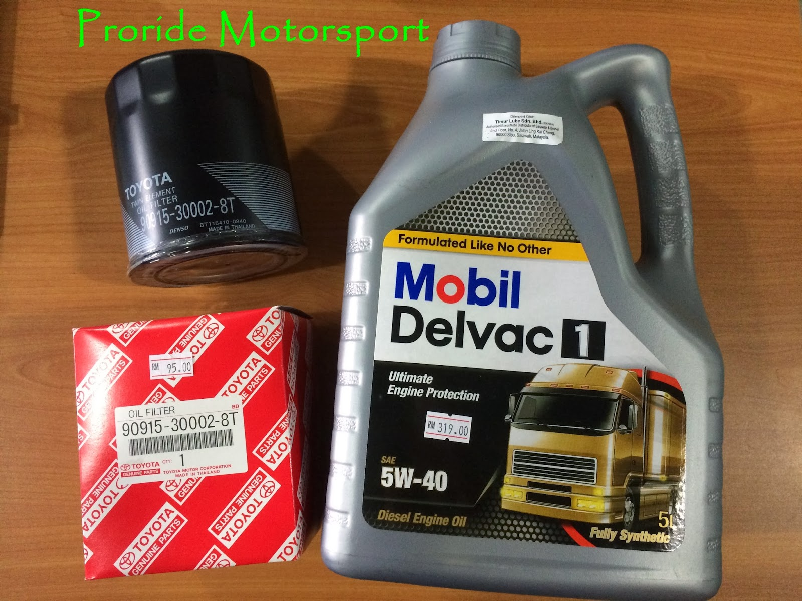 Mobil Delvac 1 & Toyota Genuine Oil Filter | Pro-ride Motorsports
