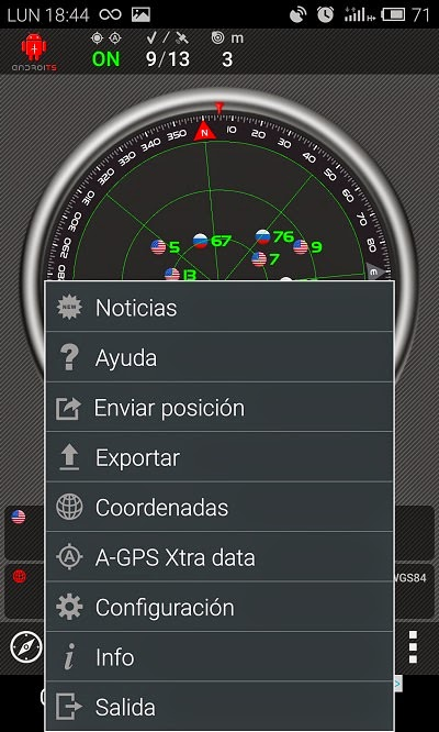 YoAndroideo.com: AndroiTS GPS Test, encontrando satélites