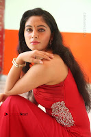 Actress Zahida Sam Latest Stills in Red Long Dress at Badragiri Movie Opening .COM 0139.JPG