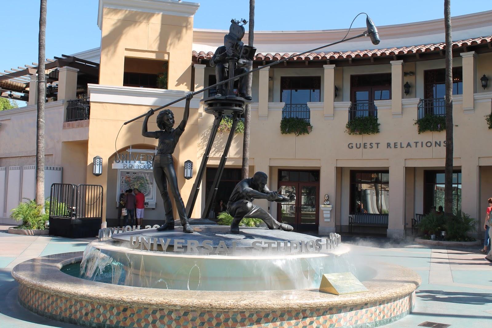 USA états unis amérique vacance transat roadtrip ouest américain universal studios fontaine
