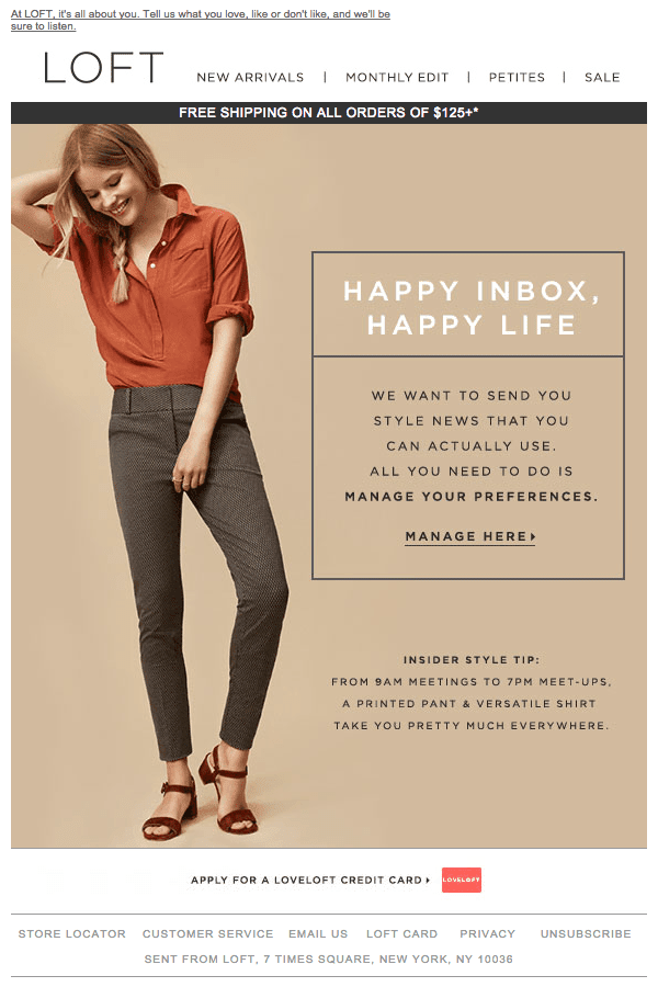 Email Marketing Campaigns - Loft