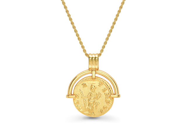 Missoma - Missoam x Lucy Willaims Roman Arc Pendant - £139.00     This week I'm featuring the best selling necklace from the Missoma x Lucy Williams collection from Missoma Jewellery. This is one of the most successful collaborations I've seen in the jewellery industry with thousands of these pendants being sold. The coins echo the rich, symbolic execution of Roman jewellery, while the fresh interpretation brings amulet status symbols into the 21st century for the modern woman.     I love the triple-lined bale at the top and the way that the arc is actually separated from the coin. Part of me wants the pendant to spin, but it definitely doesn't. The only thing that I would point out about this necklace is that it is not vermeil but 3 microns on brass instead of the regular sterling silver.     The collection was created after Lucy returned from a trip to Rome, Inspired by the city's antiquities and treasured artefacts, Lucy and Marisa joined forces for the second time to create a collection depicting Roman iconography. The hero pieces of the collection are the pendant necklaces inspired by ancient coins and talismans with cultural motifs from ancient Rome.