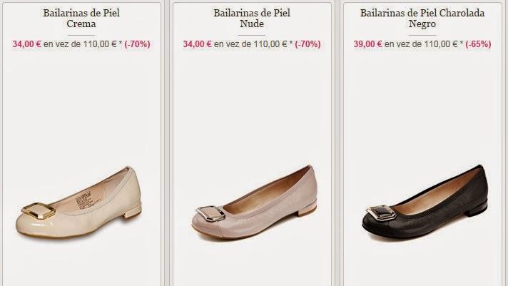 Ejemplos de modelos de bailarinas de esta marca en oferta