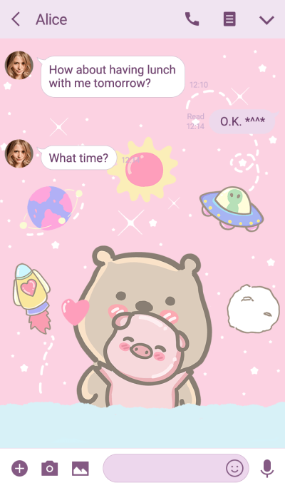 pig and bear (my universe)