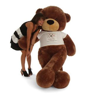 Giant Teddy Bear in Red Heart