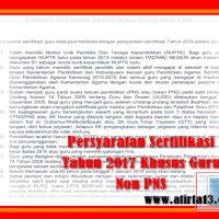 Persyaratan Sertifikasi Tahun 2017 Khusus Guru Non PNS.docx