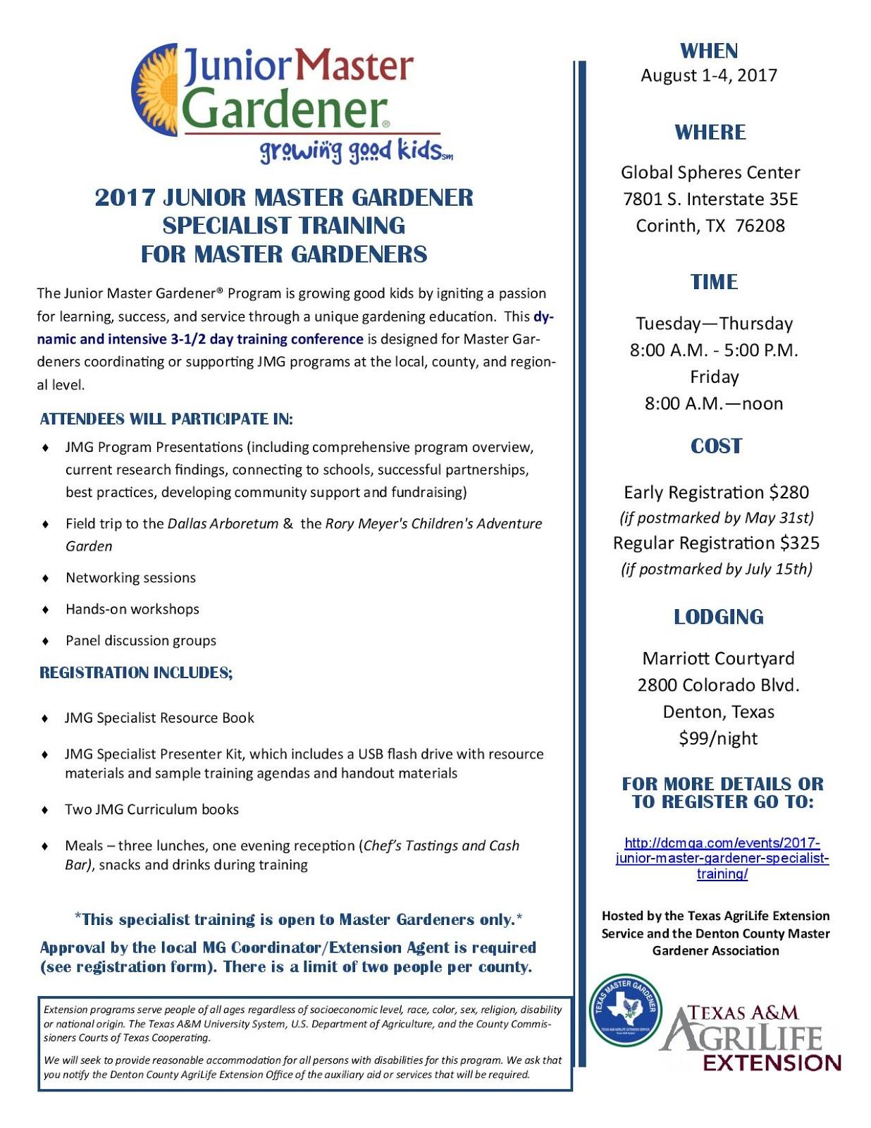 Virginia Cooperative Extension Master Gardener Program 2017 Junior Master Gardener Specialist