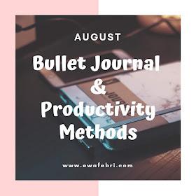 12 Months Bujo challenge August by ewafebri