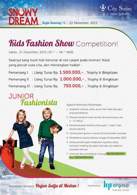 Hujan Salju di Medan - Kids Fashion Show Competition https://www.ceritamedan.com/