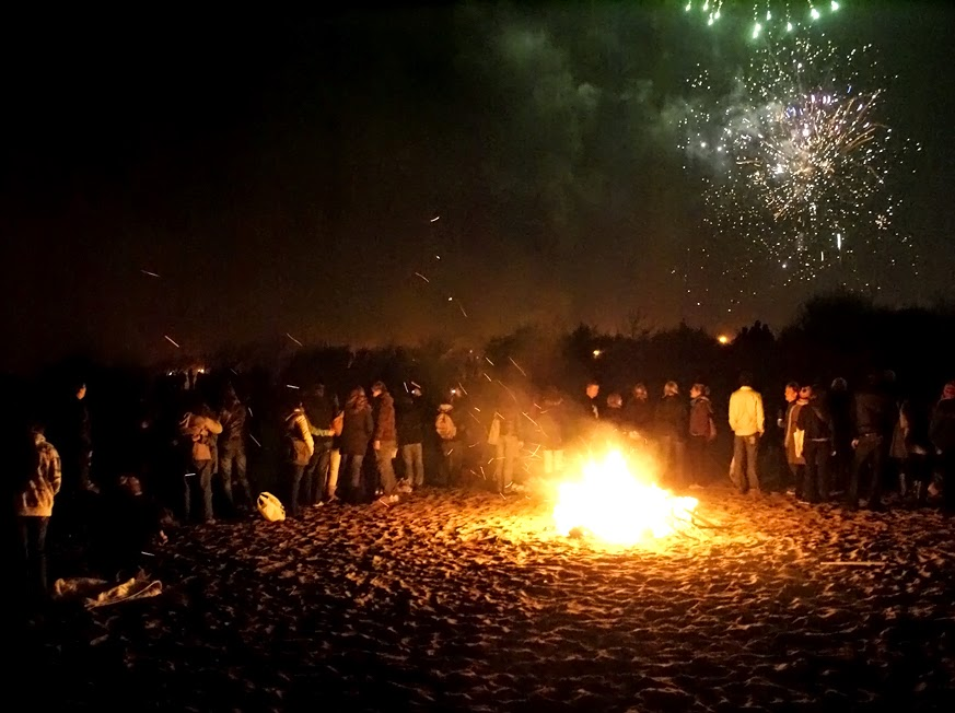 swansea beach bonfire fifth of november wales uk britain