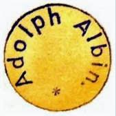 Sello con el nombre de Adolf Albin
