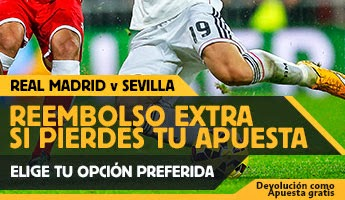 betfair reembolso 25 euros Real Madrid vs Sevilla 4 febrero