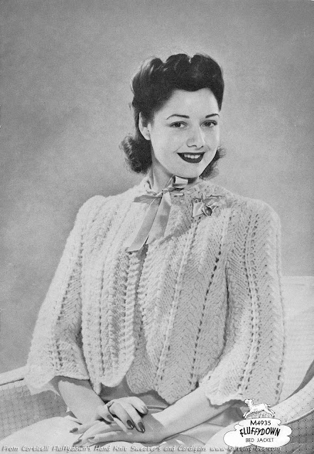 The Vintage Pattern Files: Free 1940's Knitting Pattern - Bed Jacket