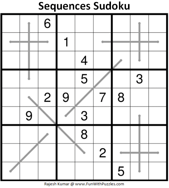 Sequences Sudoku Puzzle (Fun With Sudoku #369)