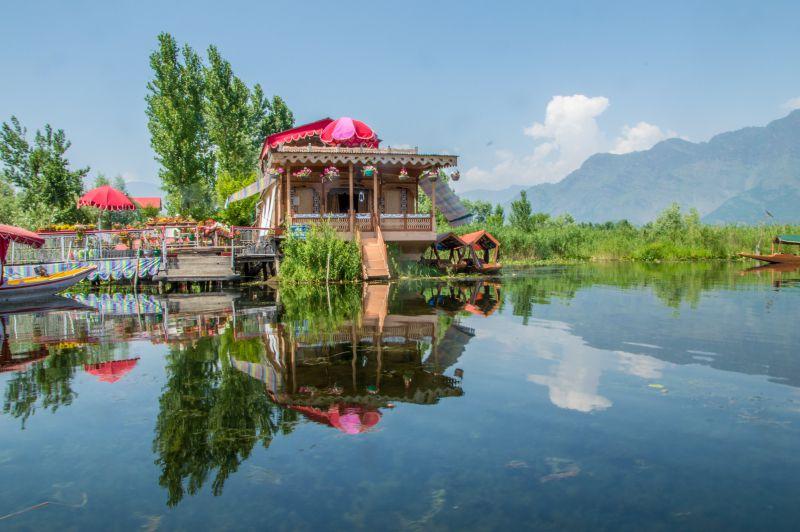 A houseboat over Dal Lake