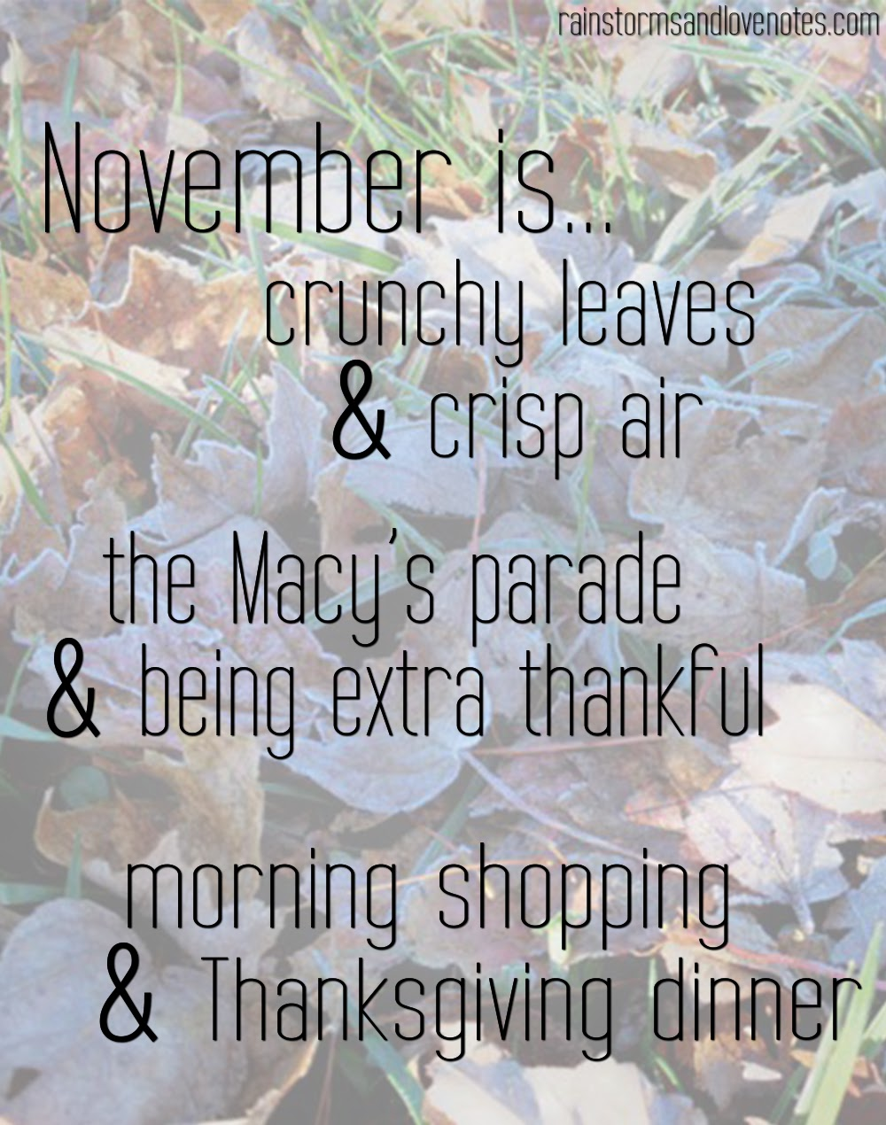 November Inspiration Rainstorms And Love Notes