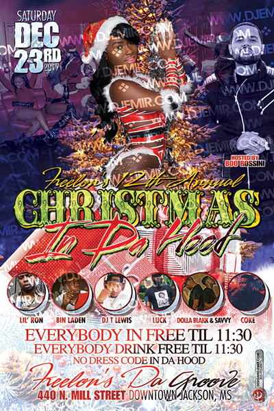 Christmas In Da Hood Flyer Design Side 1