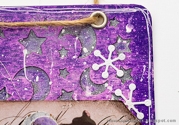 Layers of ink - Christmas Joy Mixed-Media Panel, for the SSS DieCember Blog Hop