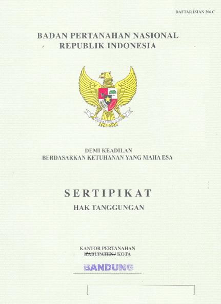 sertifikat hak tanggungan