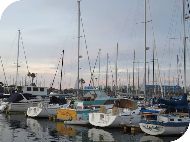 From Venice Beach to Santa Monica: Sailboats over Marina del Rey