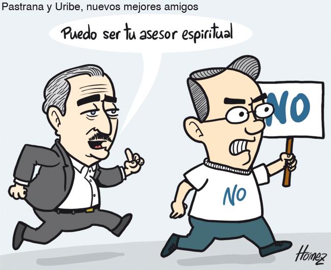 Pastrana Y Uribe Mejores Amigos Caricaturas De Homez
