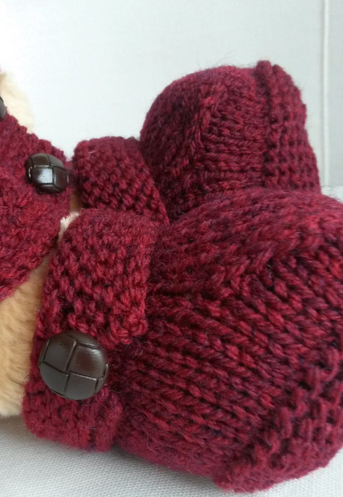 Linmary Knits: Teddy Aran Jacket and Ugg boots