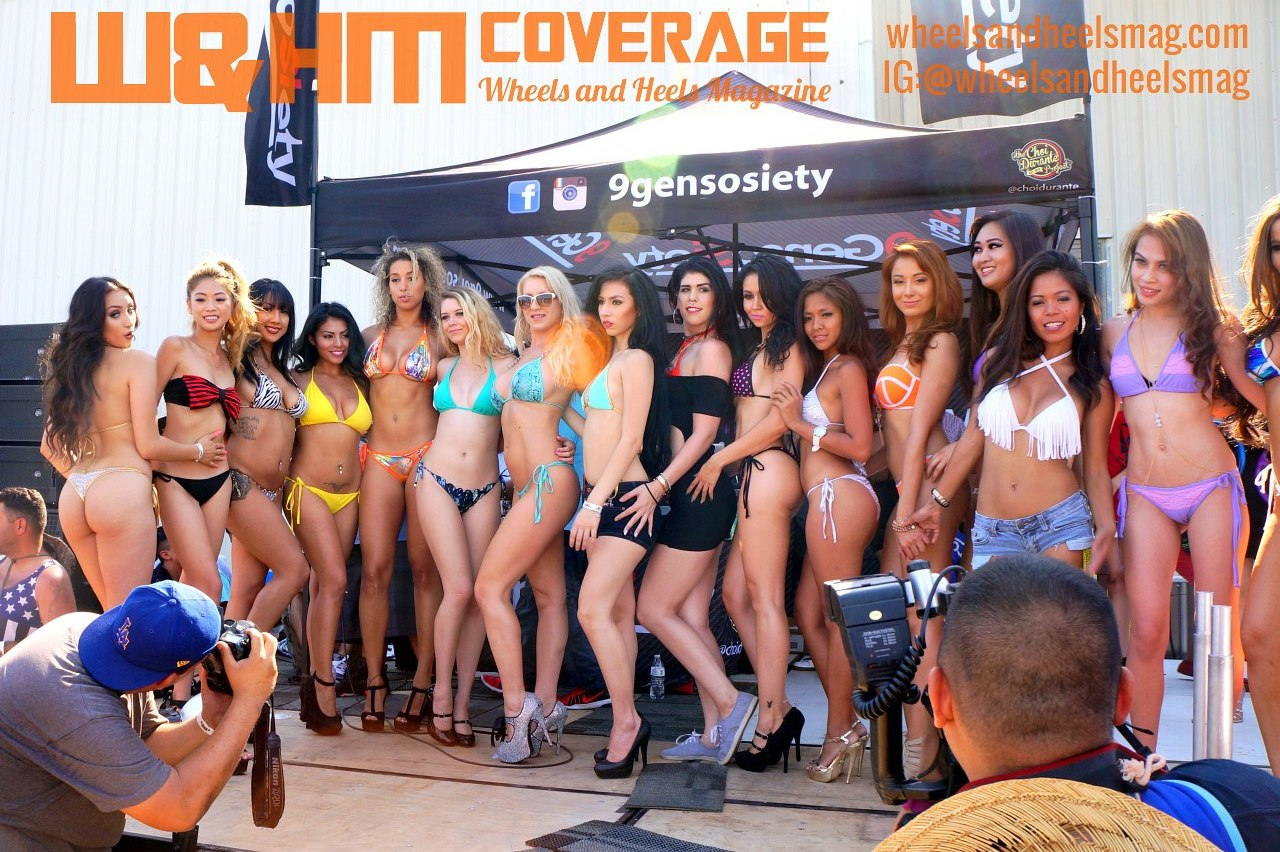 bikini contest shows car