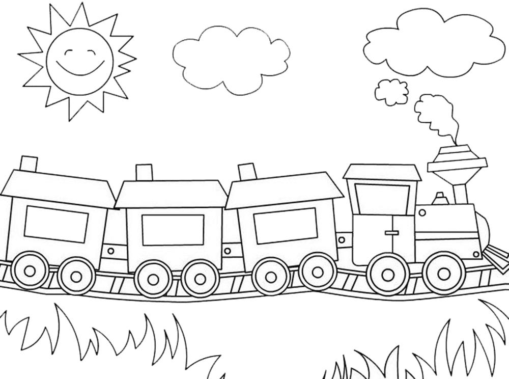 Gambar Kereta Api Untuk Mewarnai Gambar Mewarnai Gambar Kereta Api Untuk Anak