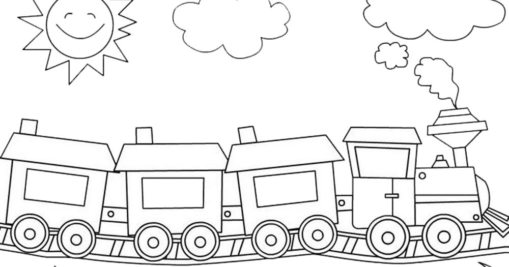 Gambar Kereta Api Thomas Hitam Putih Gambar Mewarnai Gambar Kereta Api Hitam Putih