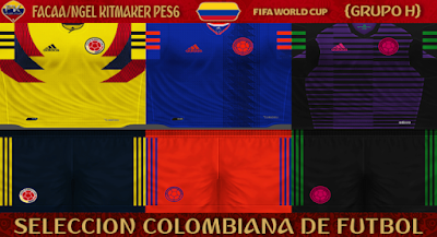 PES 6 Kits Colombia National Team World Cup 2018 by FacaA/Ngel