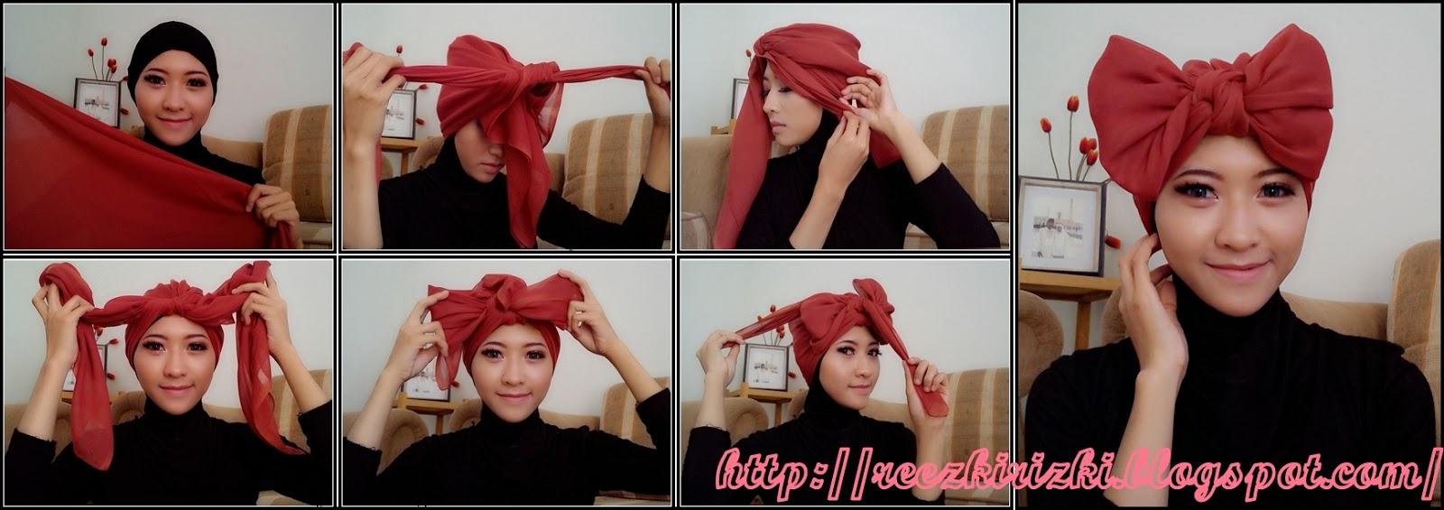 28 Foto Tutorial Hijab Paris Pita Paling Update Tutorial Hijab