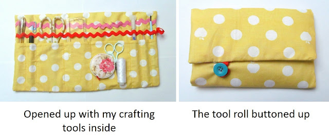 craft tool roll sewing project