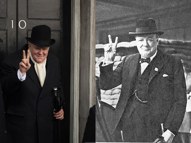 Comparación entre John Lithgow y Winston Churchill