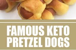 Famous Keto Pretzel Dogs #keto #pretzeldogs