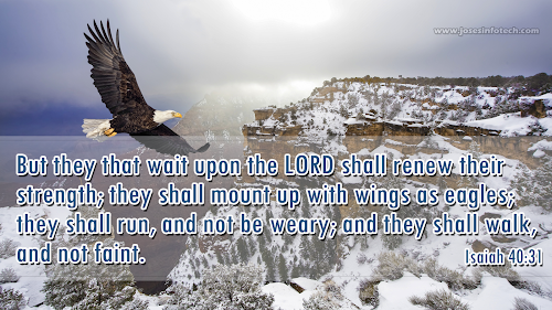 Bible wallpaper Isaiah 40:31 - English
